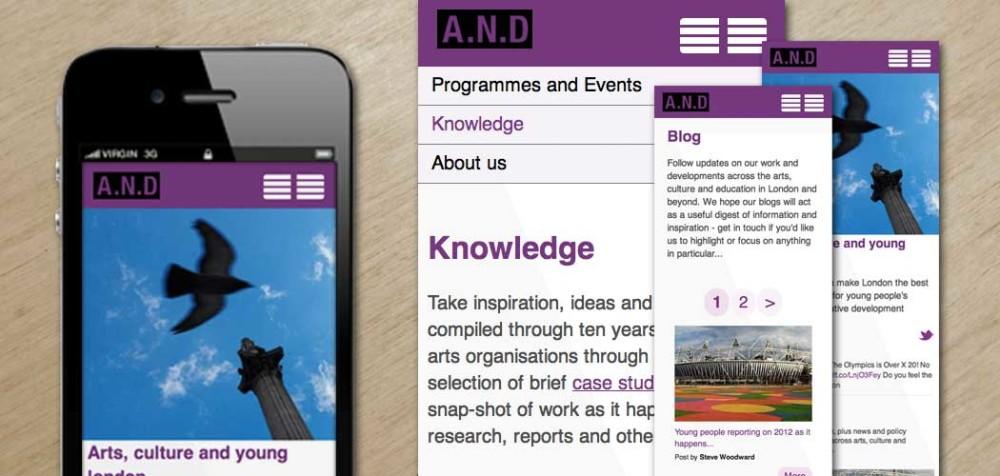 A.N.D Responsive Website