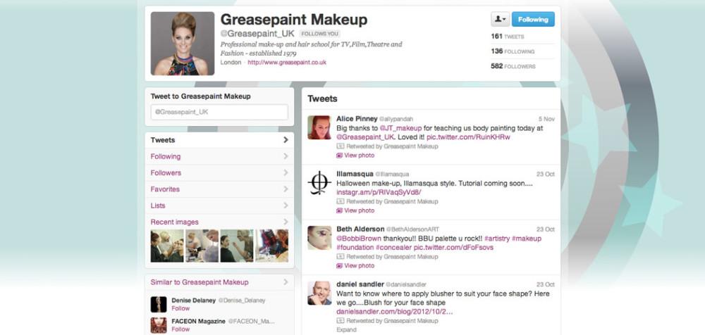Greasepaint Twitter management