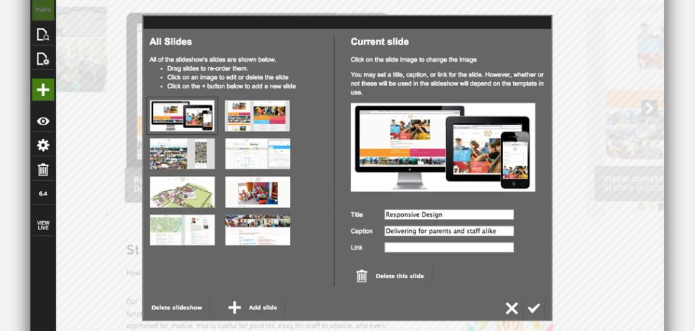 Organising slideshow images