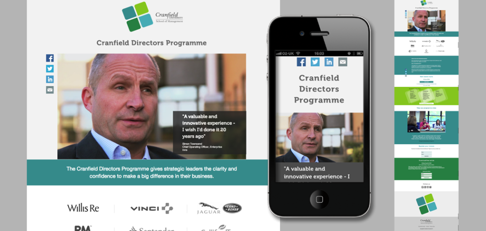 Inbound marketing for Cranfield School of Management
